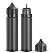 Флакон для жидкости 60 мл с дозатором и детской защитой черный
